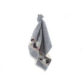 Set Handdoek en theedoek Chickens Grey