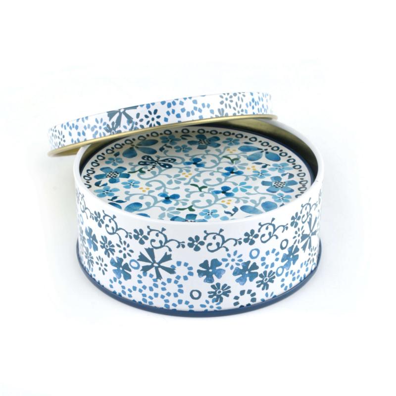 Tin box with coasters