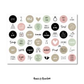 Stickers | Stickervel Trouwen- 48 stickers