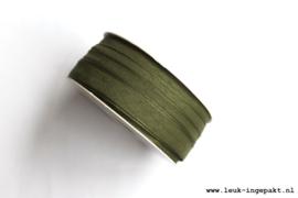 Katoenen lint    Mos groen (12 mm) - per meter