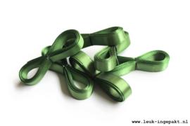 Satijn lint | Mos groen - 12 mm / 5 m