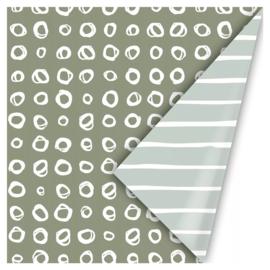 Cadeaupapier   Line art (Green) - 3 m