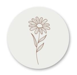 Stickers | Bloem nude - 5 stuks