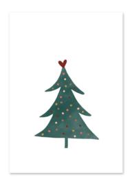 Ansichtkaart | Kerstboom