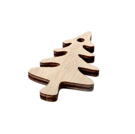 Cadeaudecoratie |  Houten kerstboompje