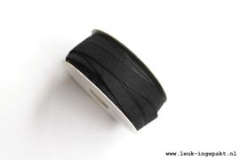 Katoenen lint    Zwart (12 mm) - per meter