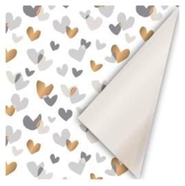 Cadeaupapier   Duo hearts - 3 m