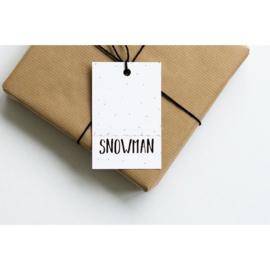 Cadeaulabel | Snowman