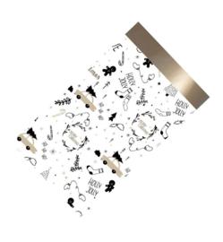 Cadeauzakjes | Holly jolly - 12 x 19 cm