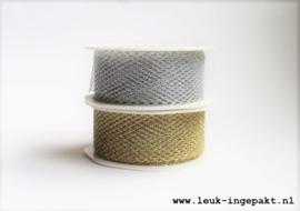 Mesh lint    Zilver (38 mm) - per meter