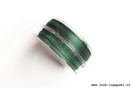 Organza lint    Donker groen (10 mm) - per meter