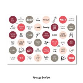 Stickers | Stickervel Oud en nieuw - 48 stickers