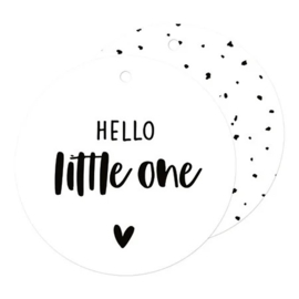 Cadeaulabel | Hello little one (rond)