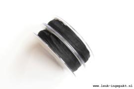 Organza lint    Zwart (10 mm) - per meter