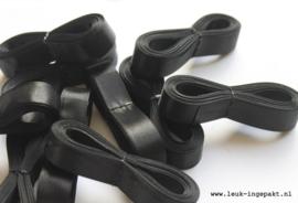 Satijn lint |  Zwart - 12 mm / 5 m