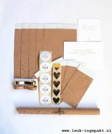 Voordeelpakket | Gold foil hearts