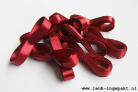 Satijn lint | Donker rood- 12 mm / 5 m