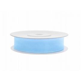 Organza lint |  Licht blauw (12 mm) - per meter