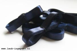 Satijn lint | Donker blauw - 12 mm / 5 m