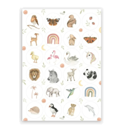 Stickers | Stickervel Dieren - 24 stickers