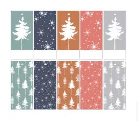Cadeaulabel | Lovely trees - 5 stuks