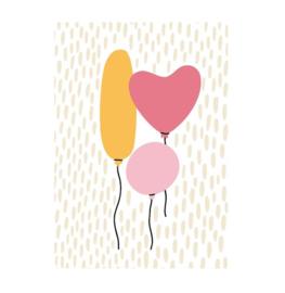 Ansichtkaart | Drie ballonnen