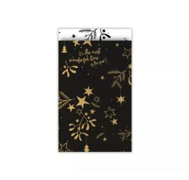 PRE ORDER - Cadeauzakjes   Mistletoe - 12 x 19 cm