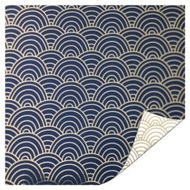 Cadeaupapier | Ocean waves (blauw) - 3 m