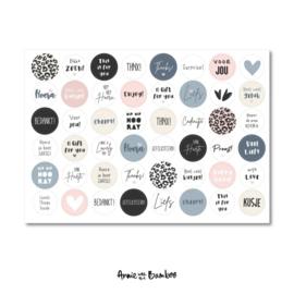 Stickers | Stickervel Verjaardag - 48 stickers