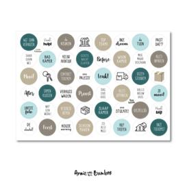 Stickers | Stickervel Verhuizen - 48 stickers