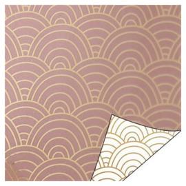 Cadeaupapier | Ocean waves (roze) - 3 m