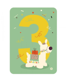 Ansichtkaart | 3 jaar