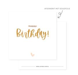 Minikaart | Happy birthday