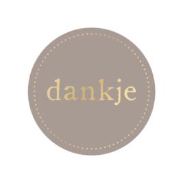 Stickers | Dankje - 5 stuks
