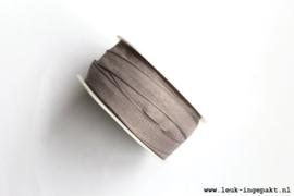 Katoenen lint    Grijs (12 mm) - per meter
