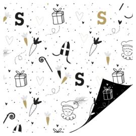 Cadeaupapier   Sint illustraties - 3 m
