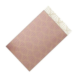 Cadeauzakjes | Ocean waves (roze) - 12 x 19 cm