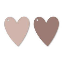 Cadeaulabel | Hearts duo pink