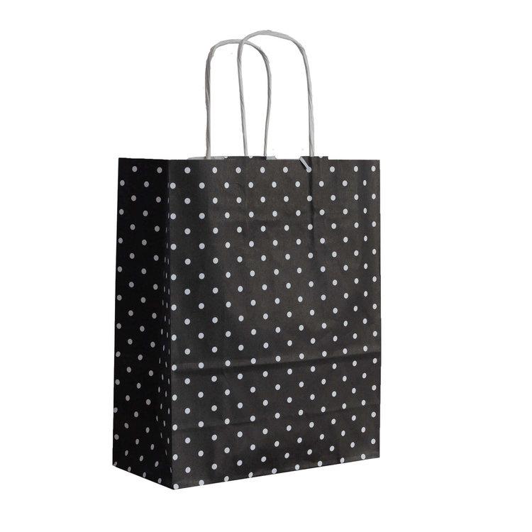 Cadeautas - Kleine stippen (zwart)