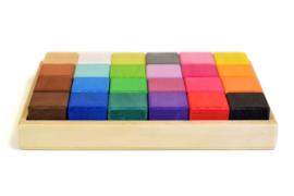 Bumbu Toys - Houten regenboog blokken set 24 stuks