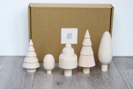 SABO Concept - Bomen set naturel 5 stuks