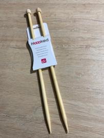 Bamboo breinaalden met knop