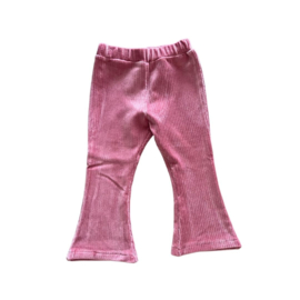 Mini flared rib oud roze