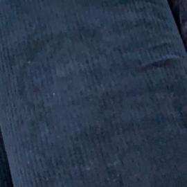 Mini flared rib petrol blauw
