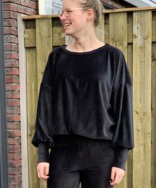 trui met pofmouw zwart