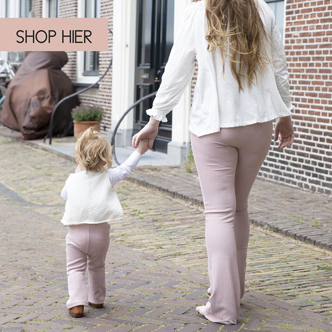 matching broek voor moeder en dochter
