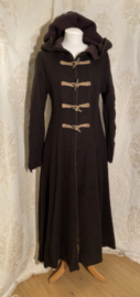 winter coat with dark brown lining