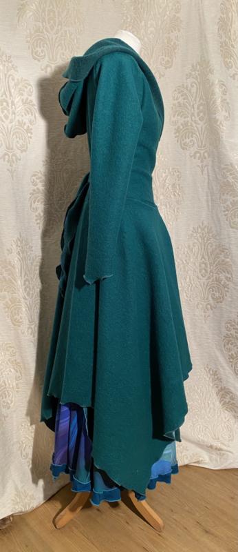 Wrap cardigan sea green