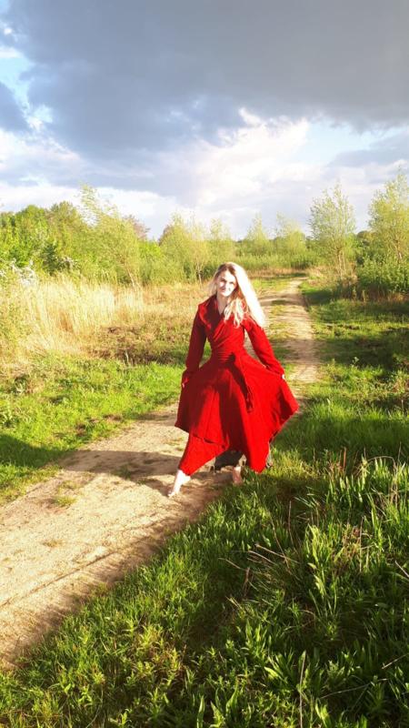 Wikkelvest wol rood