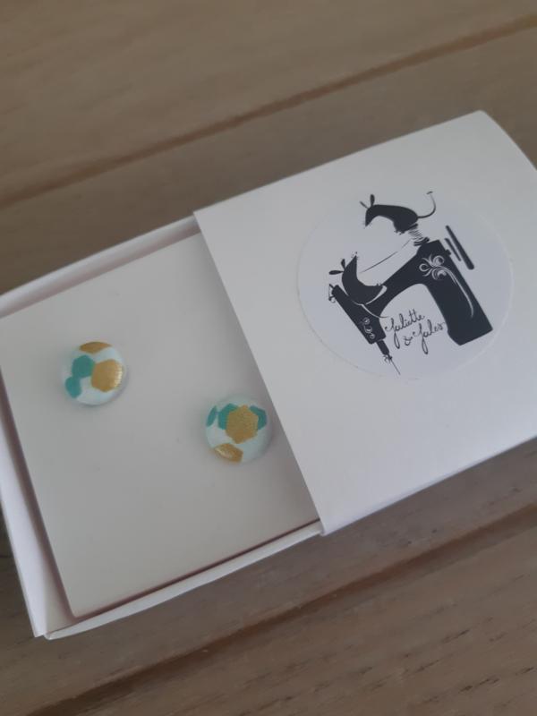 Oorbellen mint - gold